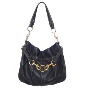 Coach Genuine Black Leather Shoulder Bag